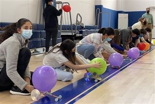 What Makes a Balloon Car Work? Eighth grade science students learn physics, engineering, resilience and problem-solving
