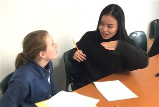 Eighth Graders Interview Chinese Grad Students, All in Mandarin!