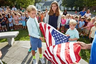 Country School Opens School Year with Flag Raising