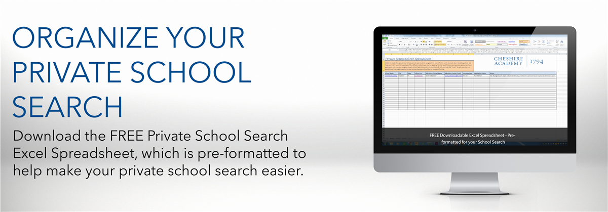 Organize your private school search