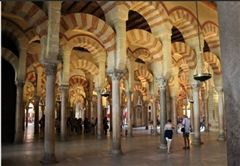 A mosque and cathedral combined in one building in Cordoba, Spain