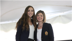 (Left to right) Miura Wiley '17 and Associate Head of School for Academic Affairs Julie Anderson.