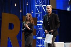 Tara Lynch '18 wins video contest to thank American soccer player and idol Abby Wambach on stage at summit.