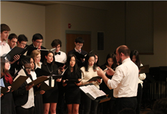The Academy's Choir performs at the Winter Concert.