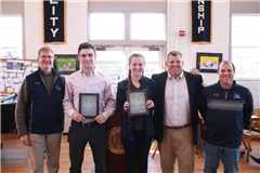 Trustee Award Winners Daniel Crossen '18 and Bryn Clarkson '17.