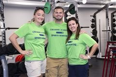 From left, CA athletic trainers Shelby Pocius, Kevin Agostini and Jen Tirillo.