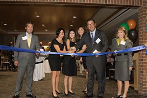 Ribbon cutting ceremony for the Lee Community Room at USM.