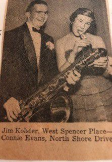 Connie and Jim Kolster during their school years