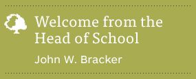 Welcome from Head of School