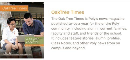About> Publications> Oak Tree Times