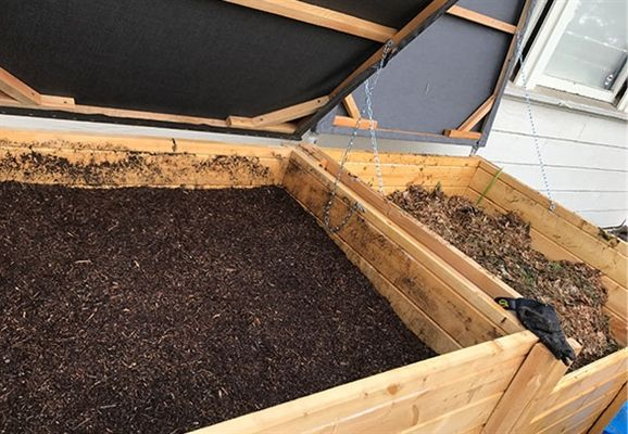 A group of eighth-graders are helping Poly reduce its carbon footprint through composting.