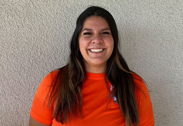 Assistant Athletic Trainer Angelina Hernandez.