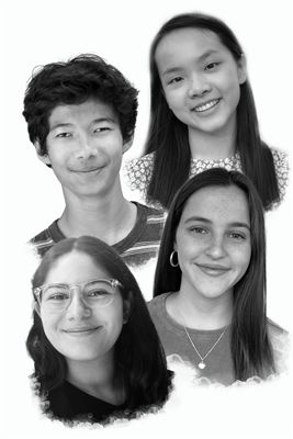 Julieta G. '21, Kate D. '22, Dario S. '23, and Sabrina Z '23 support McKinley Middle School in debate competitions.