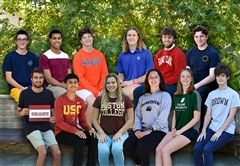From left to right, bottom row: Zach Laster, Connor Henderson, Marisa Guerra, Luisa Breen, Keara Caragher, Theodore Fernandez. Top row: Sam Salvati, Trent Steele, Van Fichtner, Thomas McConnell, Harry Foy, Sam Johnson-Lacoss.