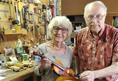 Patty and Don Range in their workshop.