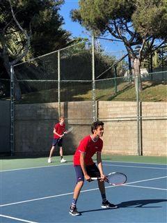 7cdbbd0d8074 Boys Varsity Tennis beat Windward 13-5