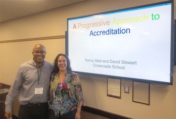 David Stewart and Nancy Seid gave a presentation about accreditation and inclusion at the recent Progressive Education Network Conference in Minnesota.