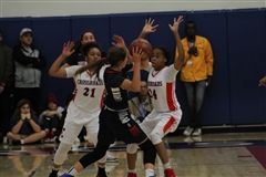 The varsity girls basketball team defeated Brentwood on Friday, helping Crossroads win the coveted Extravaganza Cup.