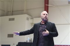 Jackson Katz discussed gender equality, violence prevention and more during his Feb. 13 visit to Crossroads.