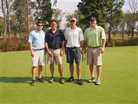 Paul Steele '97, James Malone '94, Ricky Scott, and Charlie Malone '91 take first place with a score of 54.