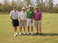 Parkes Owen '90, J.R. McAllister, Cooper Jones, and Craig Andreen take third place with a 55.