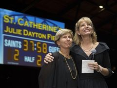 At the end of the Auction, it was announced that the new turf field will be named Julie Dayton Field