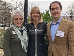 Dr. Scheckelhoff (center) with VAIS Executive Director Betsy Hunroe and VAIS President David Lourie