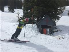 Freshman Ava Gardner is one of the youngest Ski Patrollers in the nation.