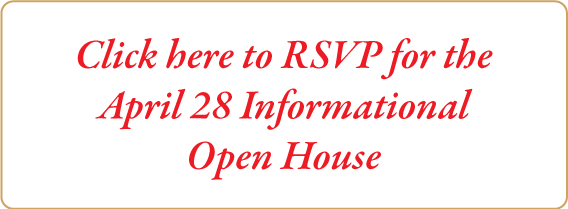RSVP for April 28 Informational Open House