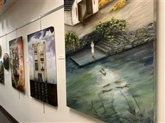 Senior Qiuyu Chen is one of six artist laureates whose work is on display in Klarsch Hall.