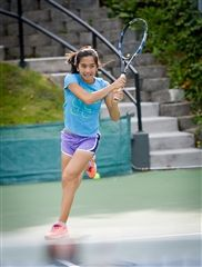 Rising Grade 10 student Kaitlin Tan is one of five Annie Wright students to play in the PNW Tennis Open next week.