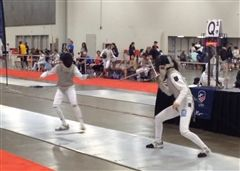 Gracie Kim (right) competes at the USA National Championships in Salt Lake City, Utah.