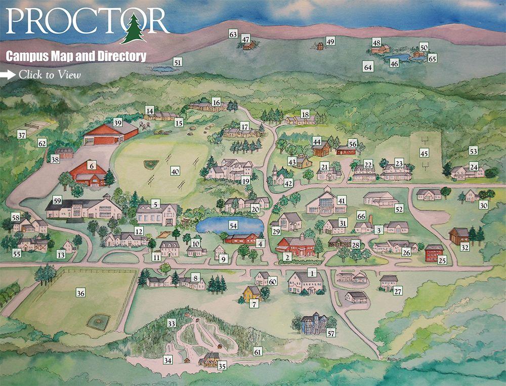 Campus Map Proctor Academy