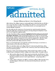 NACAC Admitted Blog