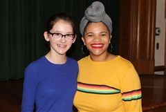 During the 2019 Paul K. Bergan Poetry Festival, Shea H. '21 (left) won the