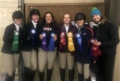 On Sunday, March 3, Foxcroft's Riding Team captured the Championship ribbon at the Interscholastic Equestrian Association (IEA) Zone 3, Regional 3 Finals held at Hazelwild Farm in Fredericksburg, VA.