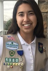 Leah N. '22 recently received the Girl Scouts Nation's Capital Silver Trefoil Award for completing more than 220 hours of service!