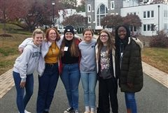 Representing Foxcroft at the VAIS Festival of the Arts this year was (left to right) Gabby G. '23, Teagen S. '21, Isobel D. '21, Julia G. '21, Maeve M. '22, and Dami O. '21