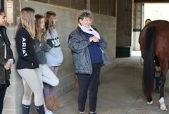 Just before Thanksgiving break, alumna Ada Gates Patton '61 conducted a farrier workshop for our Animal Science students.
