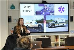 Kenzie G. '20 shared her Inspired Learning Grant presentation last Thursday.