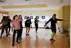 Wellness activities, including Zumba class, began each day.