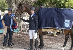 Last Saturday, sophomore Virginia B. represented the United States as part of the prestigious U.S. Junior Jumping Team in the FEI Jumping Young Rider Nations Cup during the Palm Beach Masters CSI.