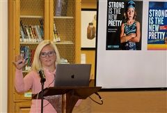 On Monday, photographer and author Kate T. Parker spoke to the community about how she celebrates strength in girls as part of the Helen Cudahy Niblack '42 Arts Lecture Series.