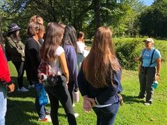 The junior class visited the Audubon Naturalist Society's Woodend Sanctuary in Chevy Chase, Maryland and the Rust Sanctuary in Leesburg, Virginia.