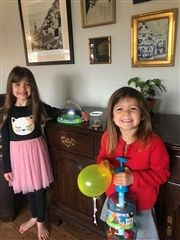 Juliette, 5 and Colette, 3 daughters of Amber Compton Samol '00.