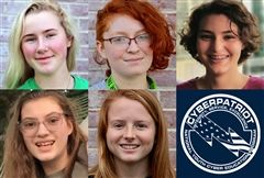 Foxcroft's CyberPatriot team — Gracie S. '21, Teagan S. '21, Danielle P. '23, Helen V. '23, and club head Betsy A. '21 — participated in its second competition in mid-December.