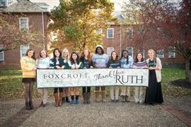 The entire Foxcroft community is grateful to Ruth Bedford '32 for her wonderful gift to the School.