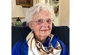 Barbara Hartley Lord '41 has been an inspiration with her dedication courage and understanding heart.