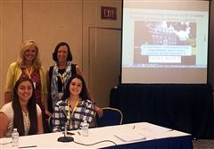 At the NCGS annual conference, STEM Department Chair Maria Evans, Head of School Cathy McGehee, and alumnae Lilly Savin '16 and Guen Geiersbach '16 presented on Foxcroft's integration of Purdue University's EPICS curriculum into STEM courses.
