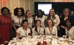 Saturday evening, teachers Stephanie Young (left) and Esther Sánchez (right) accompanied a group of Foxcroft students who volunteered at the 18th annual Virginia Black History Month Gala in Alexandria, VA.